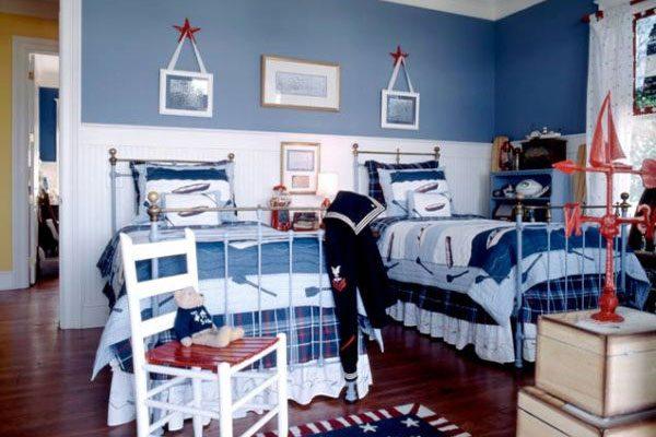 морской стиль в комнате двух мальчишек