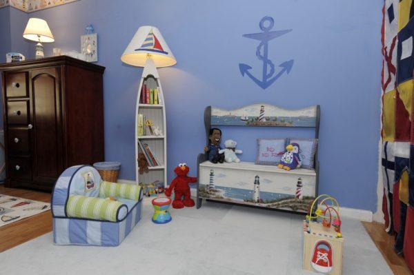 морской стиль детская комната