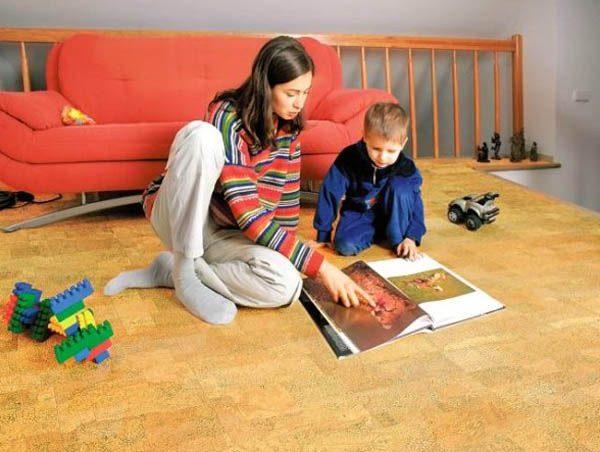 утепленный линолеум на полу детской
