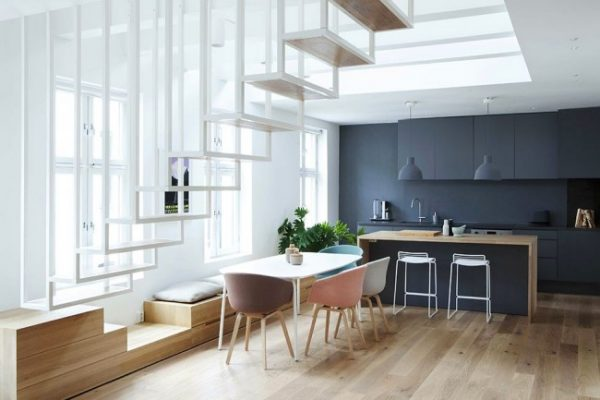 барная стойка на кухне в частном доме