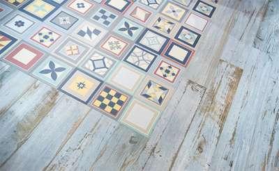 кафель на полу в скандинавском стиле