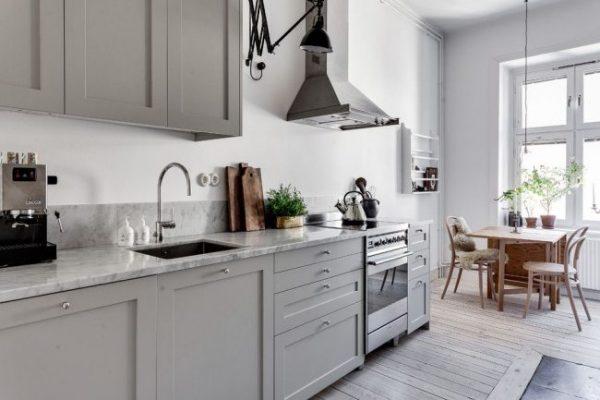 серая скандинавская кухня