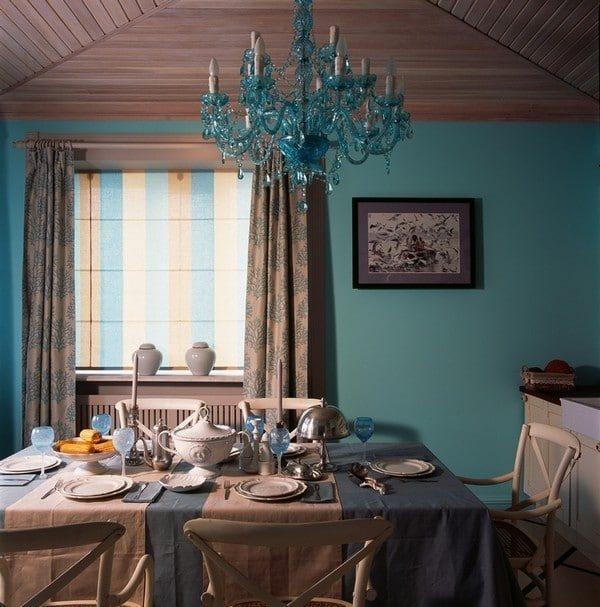 рулонные шторы для кухни с портьерами