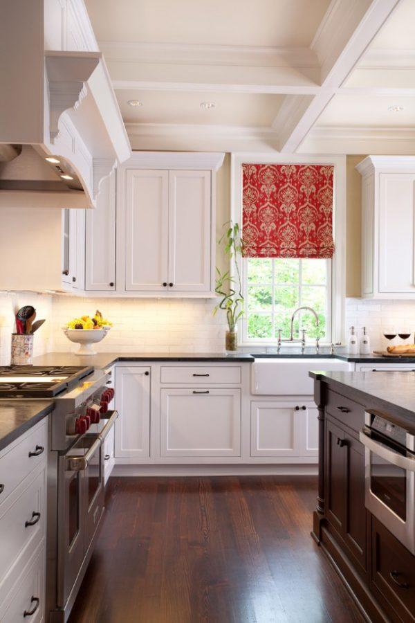 шторы для кухни римские