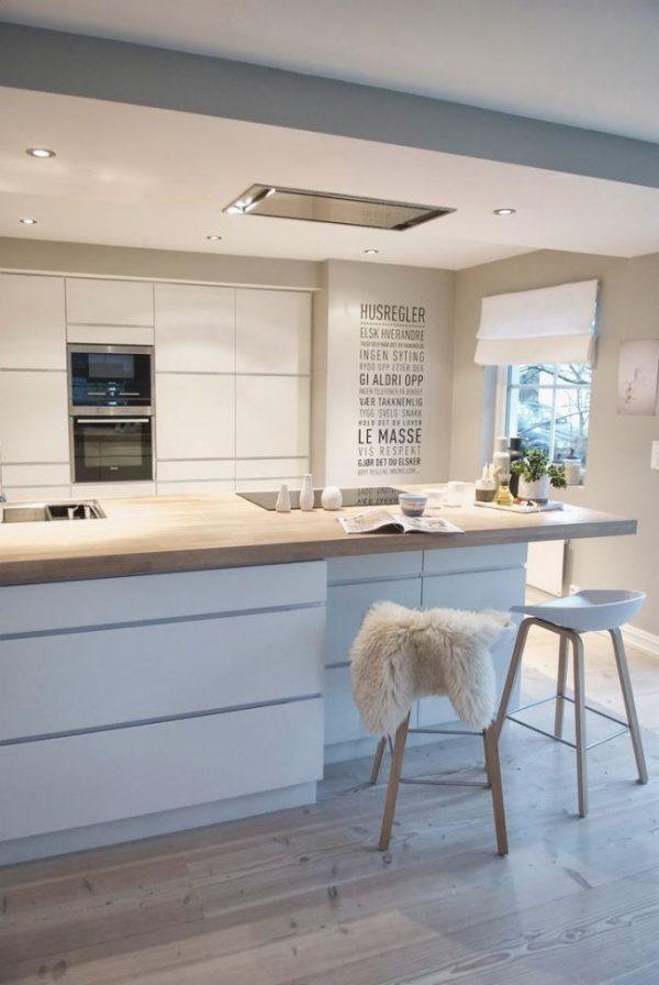 белые шторы римские на кухне
