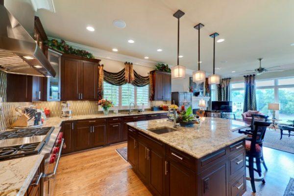 комбинированные кухонные шторы