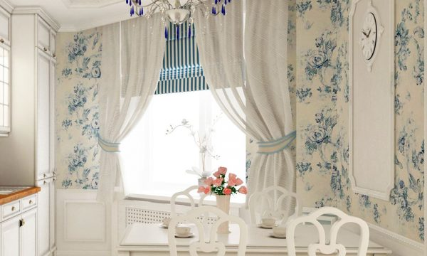 современные кухонные шторы