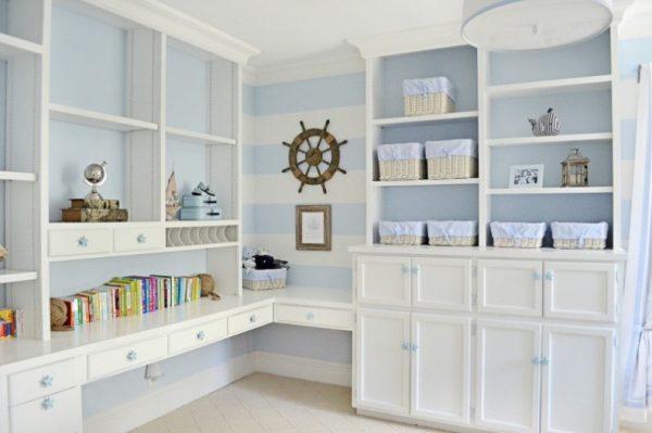 мебель для хранения в детской в морском стиле