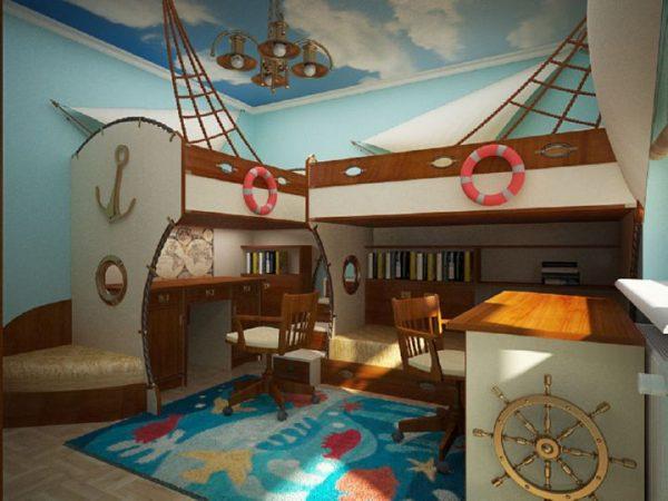 мебель в морском стиле в детской