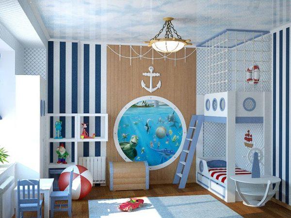 фотообои на стене детской для мальчиков