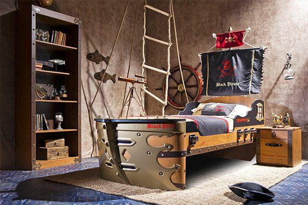 пиратский стиль для детской в морском стиле