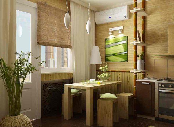 бамубковые обои на кухне экологичны