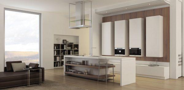 минимализм на кухне в обоях