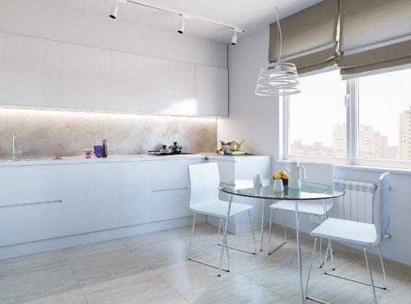 шторы на кухне минимализм
