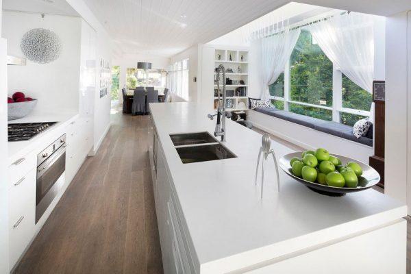 короткие занавески белые на кухню