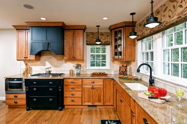 коричневые шторы для кухни короткие