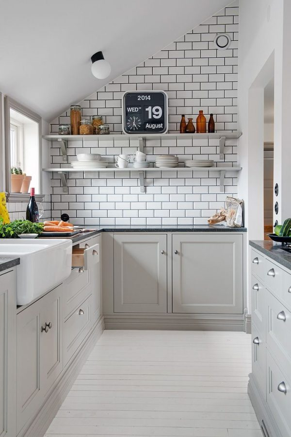 плитка кабанчик в интерьере современной кухни