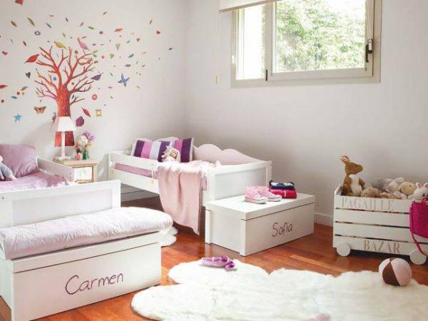 пушистый тёплый ковёр в детской комнате для девочек