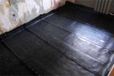 гидроизоляционный слой в ванной на полу