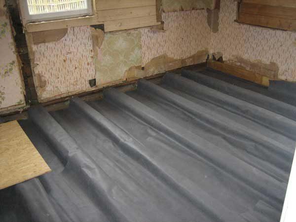 гидроизоляция на деревянном полу