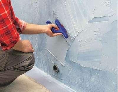 гидроизоляция на стенах ванной