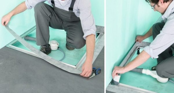 гидроизоляция в ванной под душ