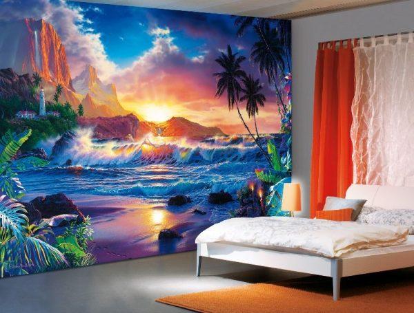 природа на фотообоях для подростка в комнате