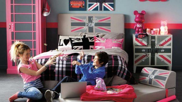 английский стиль в детской девочки