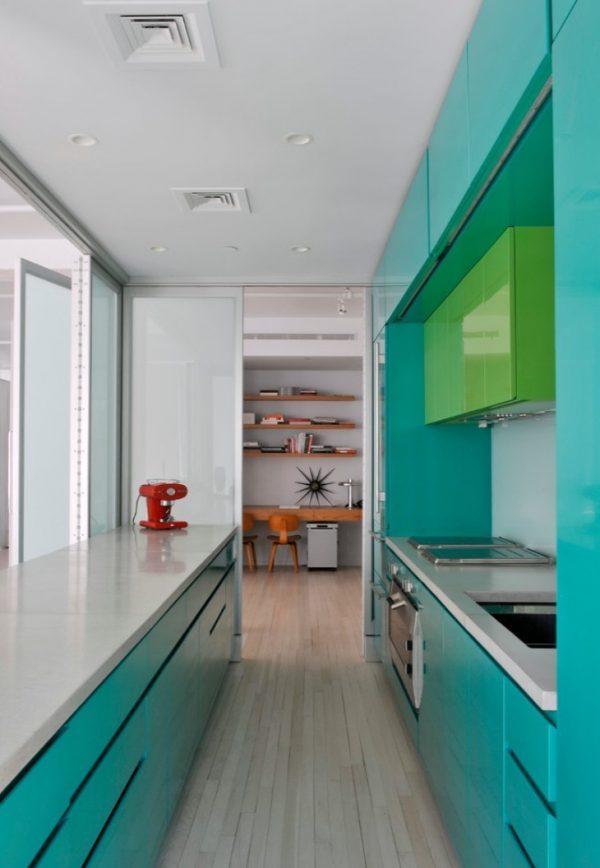 мятный и зелёный на кухне