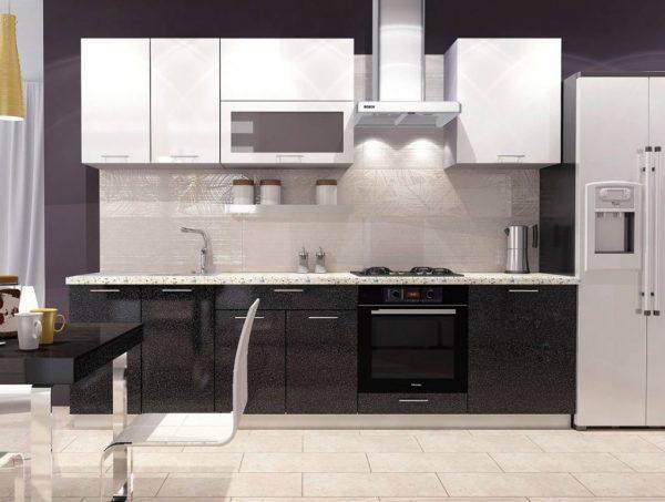 два цвета на кухне модерн