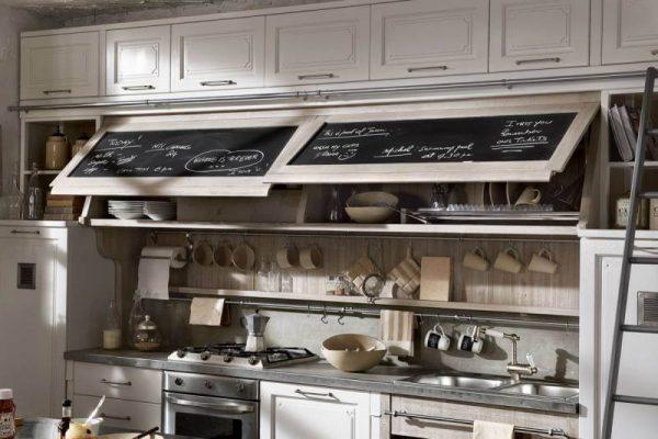 на фасадах кухни можно рисовать