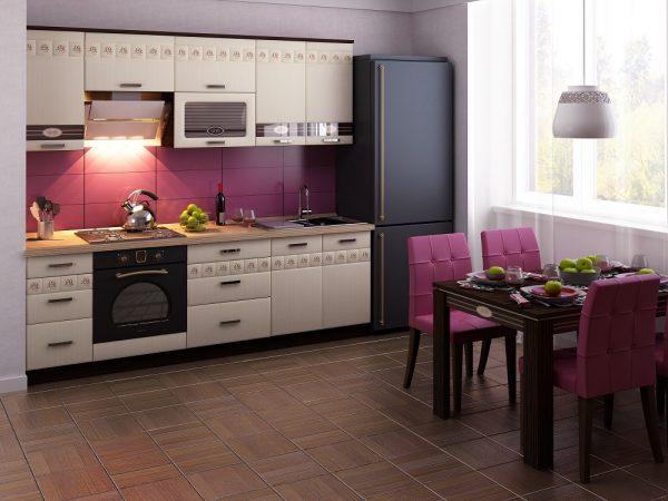 фактурные фасады на кухне