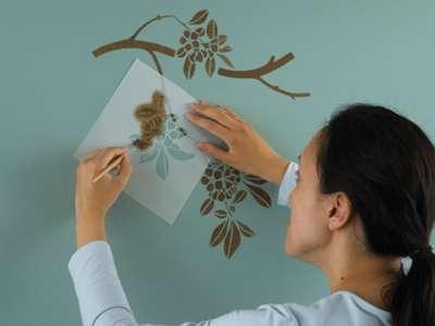 трафареты для рисования на стенах