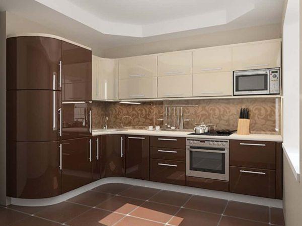 кухня из мдф с глянцевыми фасадами