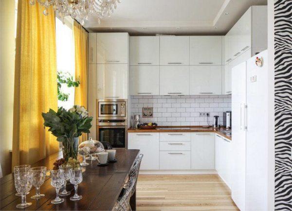 Кухня МДФ с эмалированными фасадами