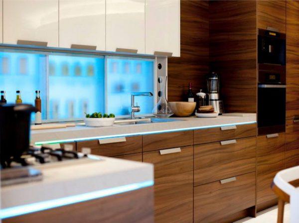 кухня из мдф со шпоновым покрытием