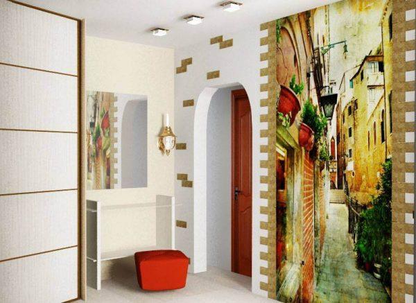 Фотообои для прихожей и коридора: дизайн интерьеров на фото