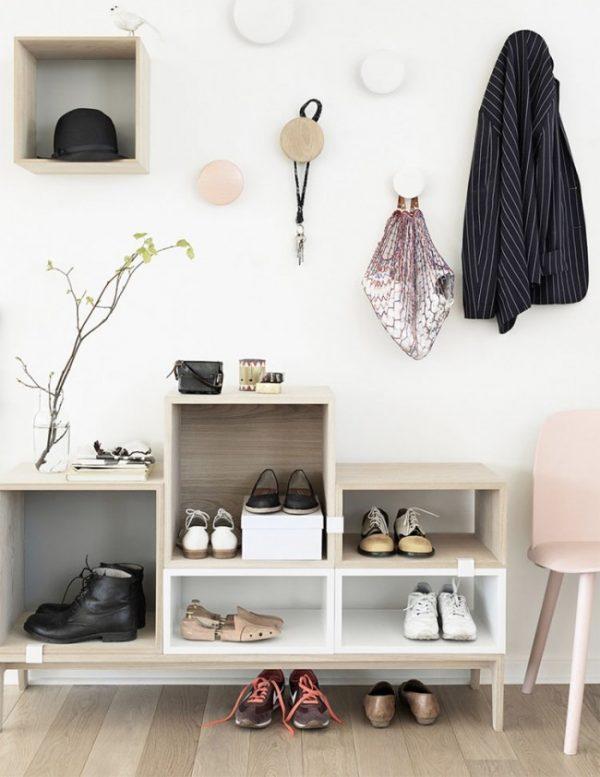 шкафчики для обуви в коридоре