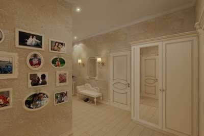 белый шкаф классика в коридоре