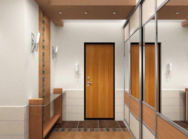 шкаф купе с зеркалом в коридоре