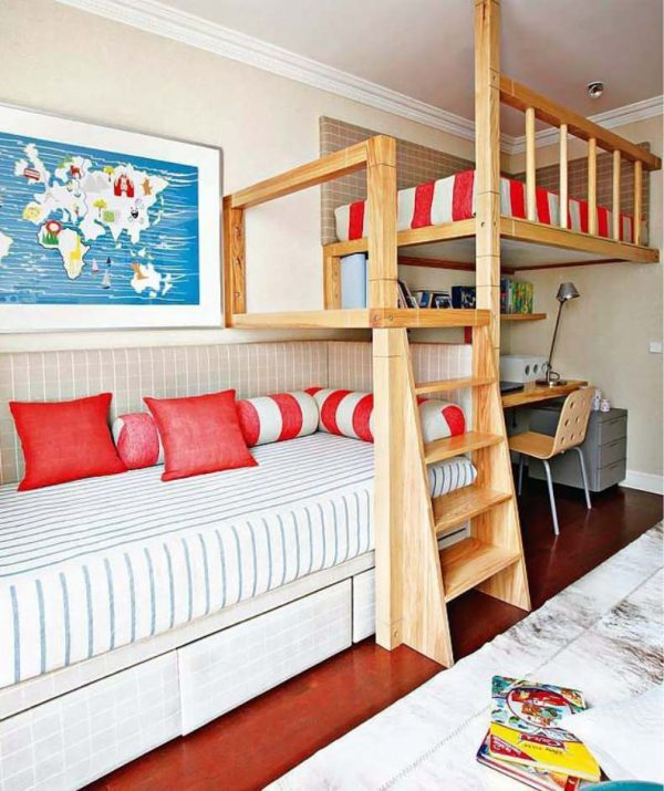 кровать чердак в детской