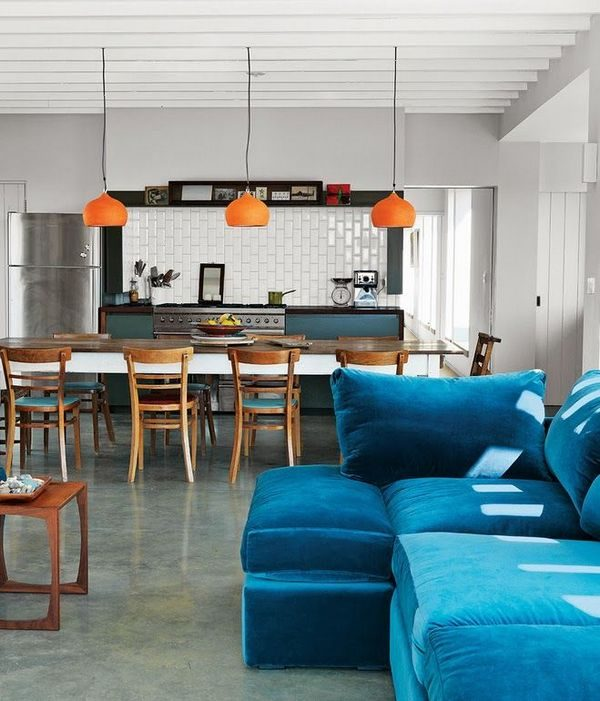 модульный диван на кухне