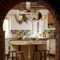 azulejos-colores-vintage-cocina-sillas-madera