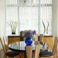 Нитяные шторы в интерьере кухни: виды, плюсы и минусы, фото