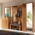 tropical-wooden-hall-storage-with-bench-with-shoe-storage-and-clothes-hooksboard-and-vanity-with-wall-mirror-and-mirrored-cupboard