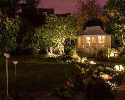 Уличное освещение на даче: садовые светильники своими руками